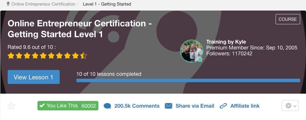 WA Online Entrepreneur Certification - overview