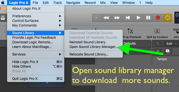 Sound library manager