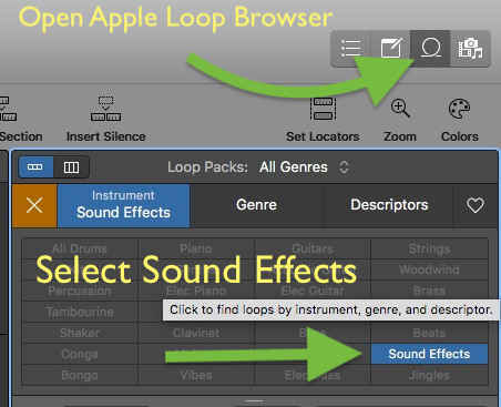 apple loop sound effects
